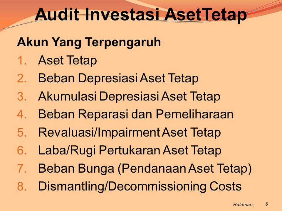 Audit Investasi AsetTetap