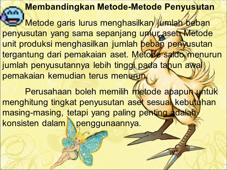 Membandingkan Metode-Metode Penyusutan
