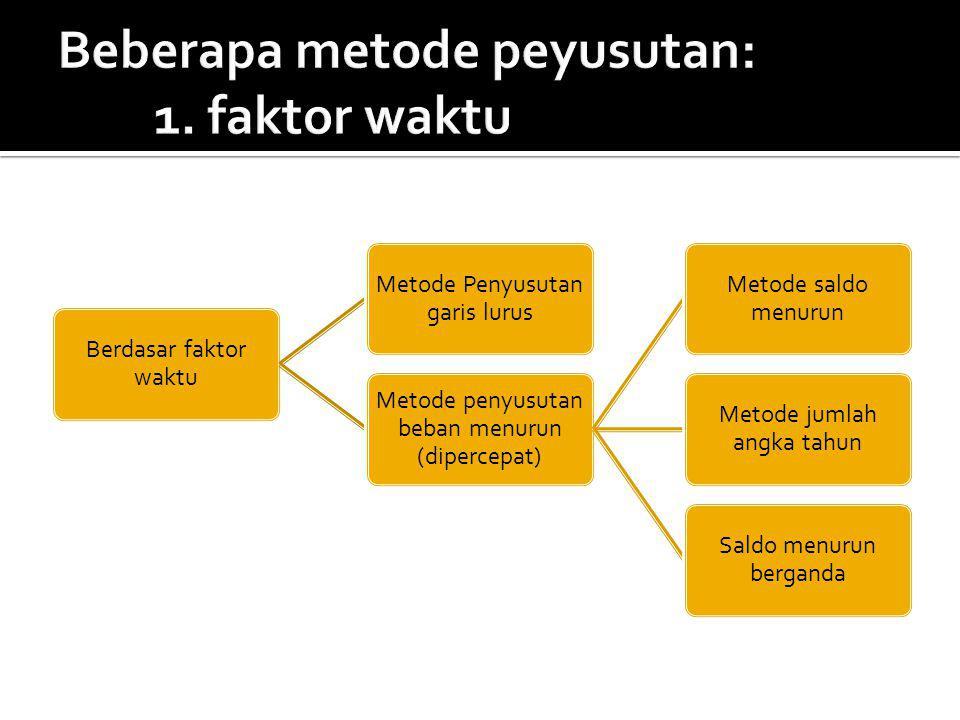 Beberapa metode peyusutan: 1. faktor waktu