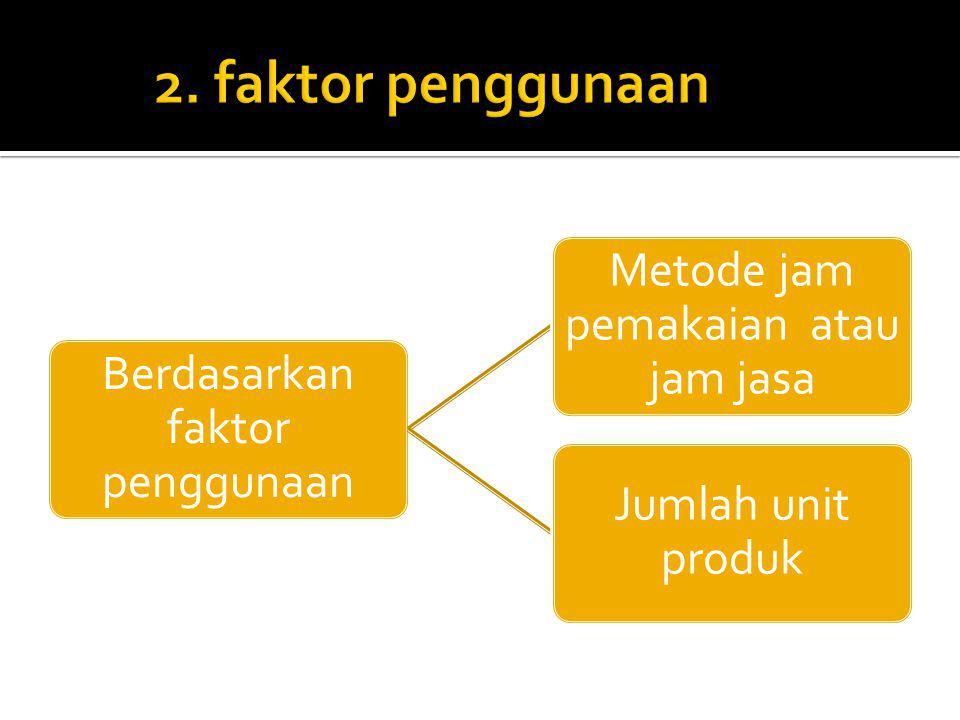 2. faktor penggunaan Berdasarkan faktor penggunaan