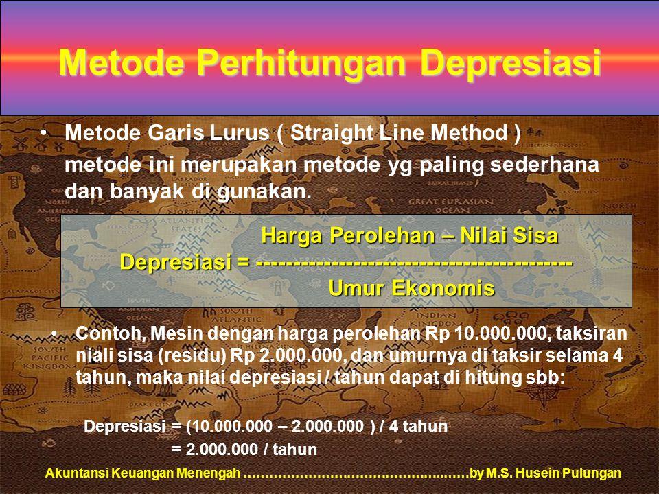 Metode Perhitungan Depresiasi