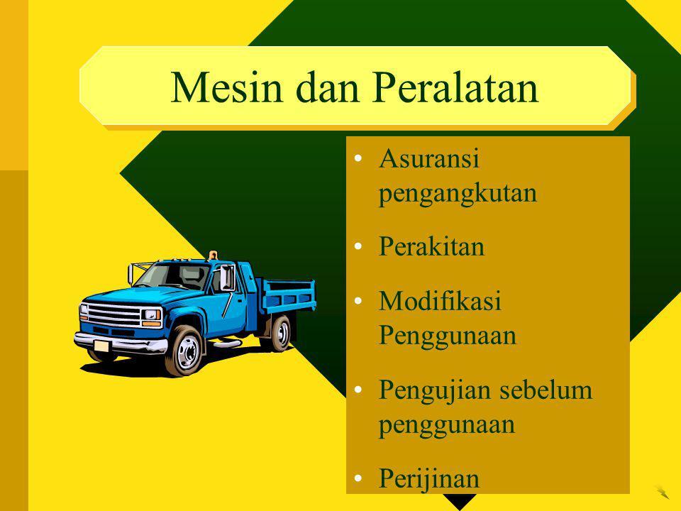 Mesin dan Peralatan Asuransi pengangkutan Perakitan