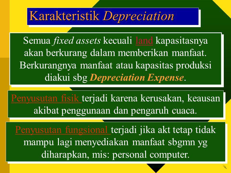 Karakteristik Depreciation