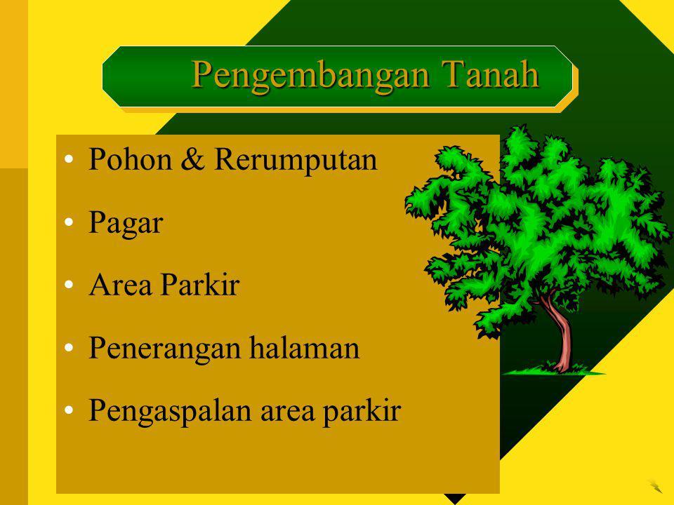 Pengembangan Tanah Pohon & Rerumputan Pagar Area Parkir