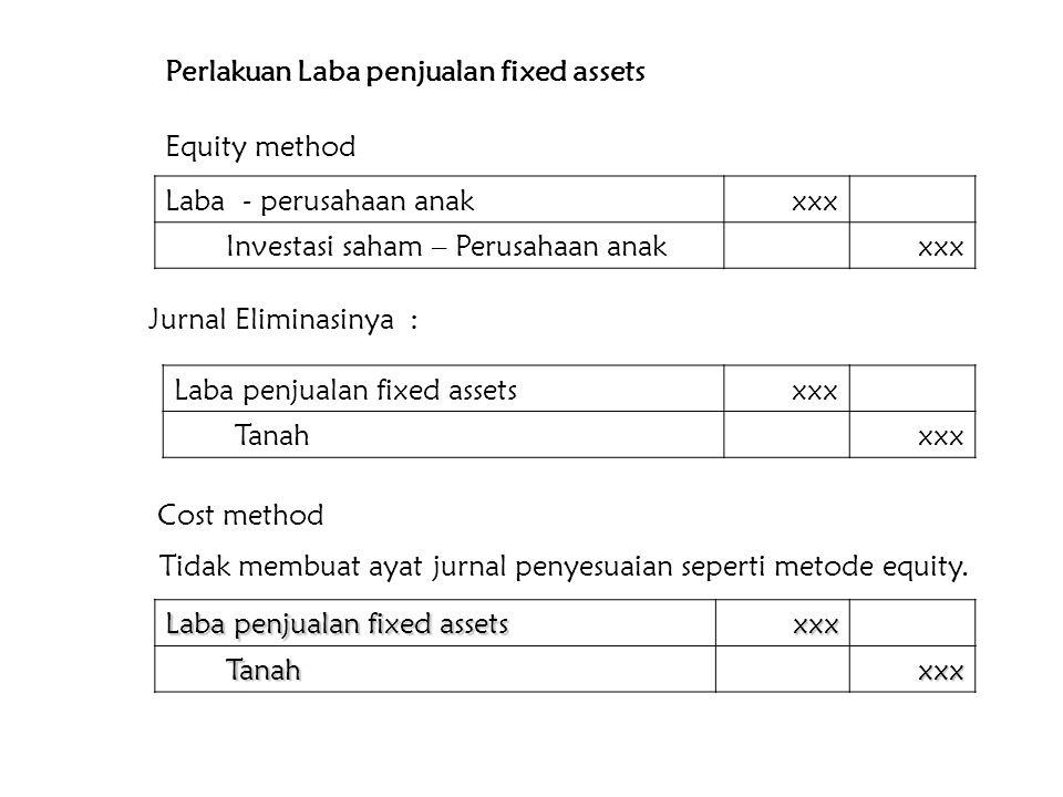 Perlakuan Laba penjualan fixed assets