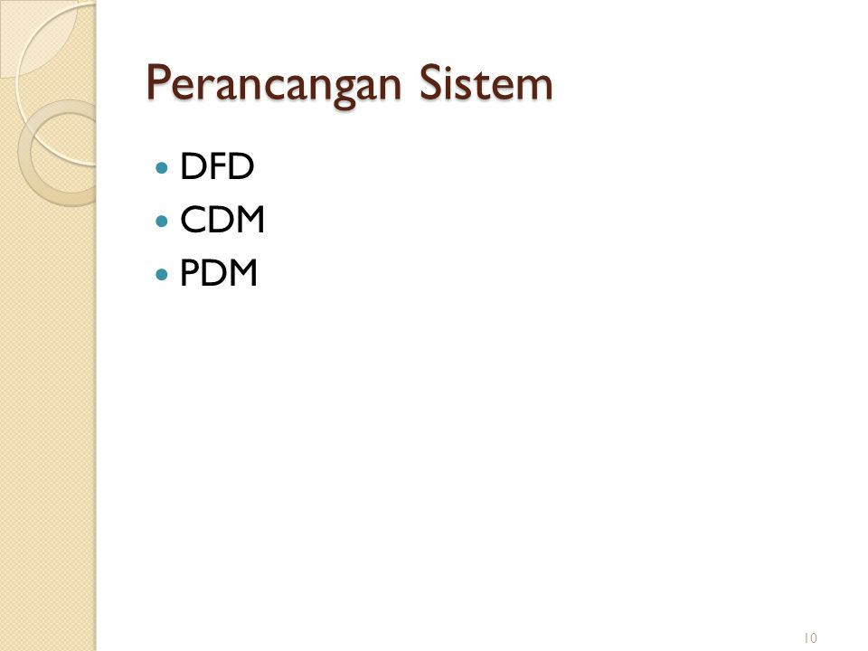 Perancangan Sistem DFD CDM PDM
