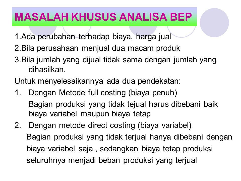 MASALAH KHUSUS ANALISA BEP