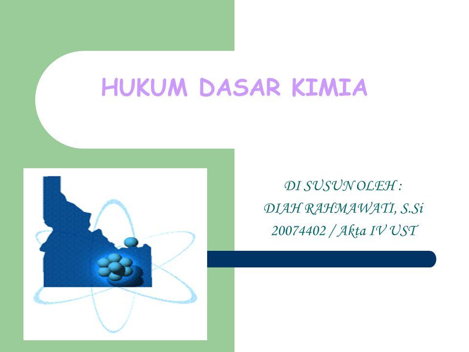DI SUSUN OLEH : DIAH RAHMAWATI, S.Si 20074402 / Akta IV UST