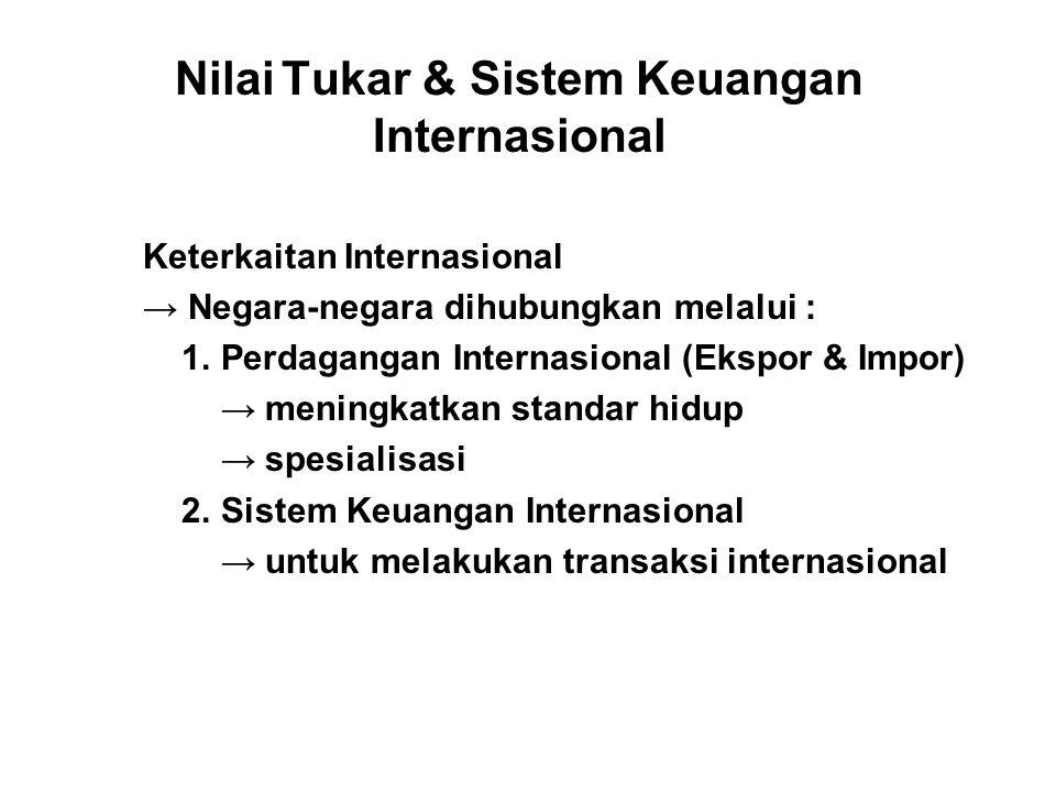 Nilai Tukar & Sistem Keuangan Internasional