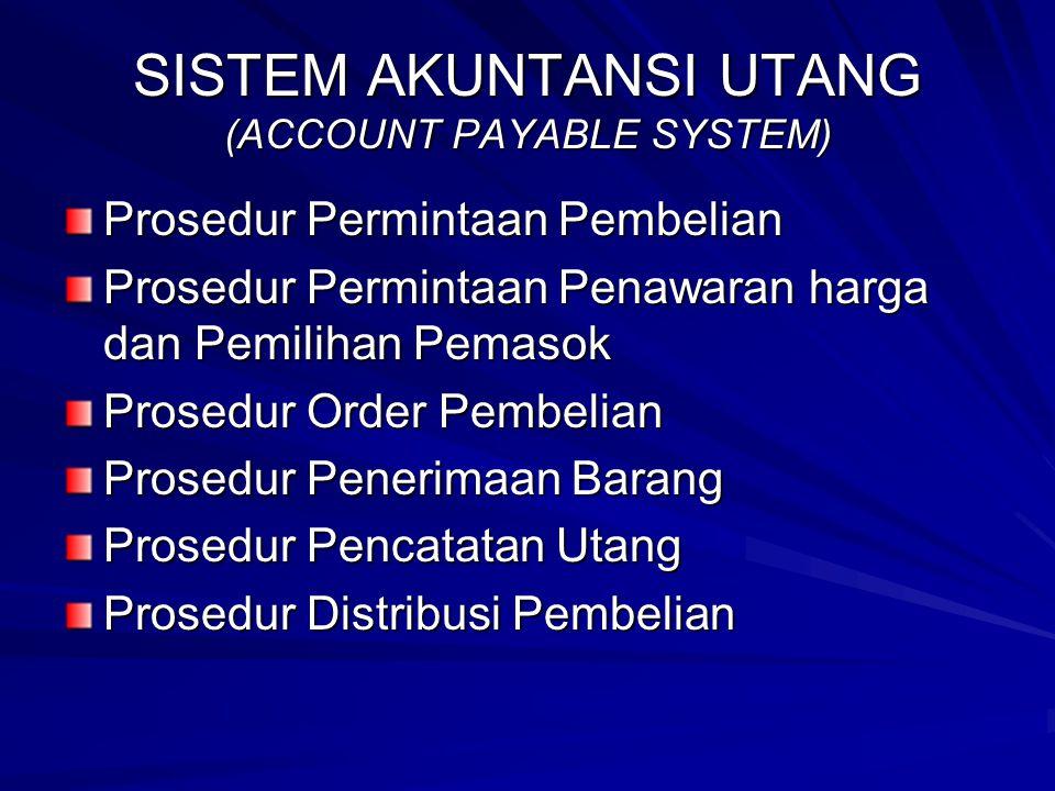SISTEM AKUNTANSI UTANG (ACCOUNT PAYABLE SYSTEM)