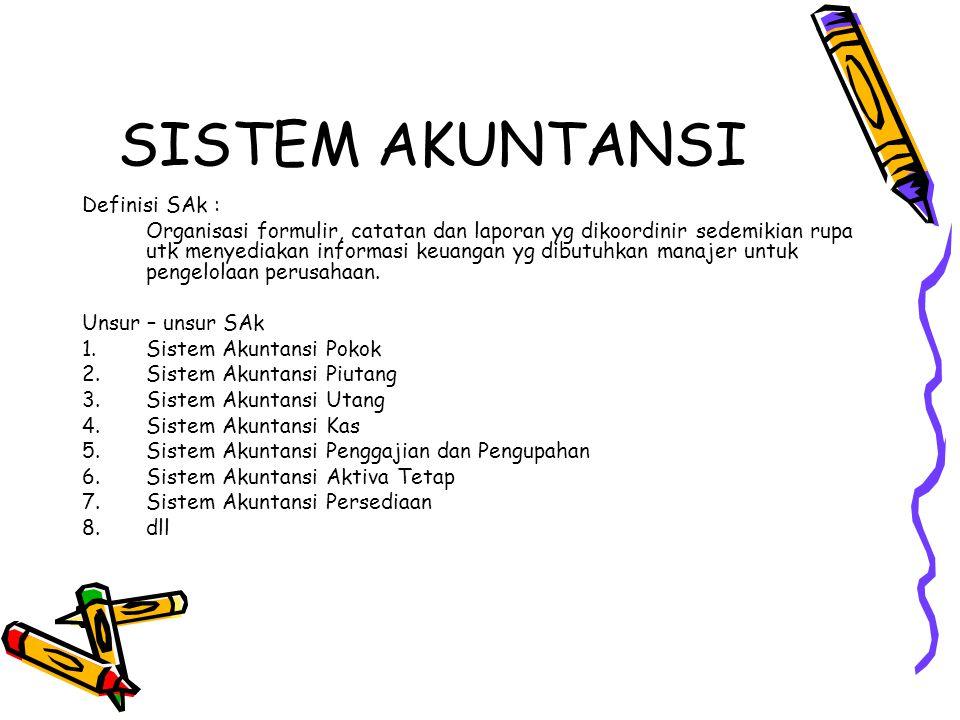 SISTEM AKUNTANSI Definisi SAk :