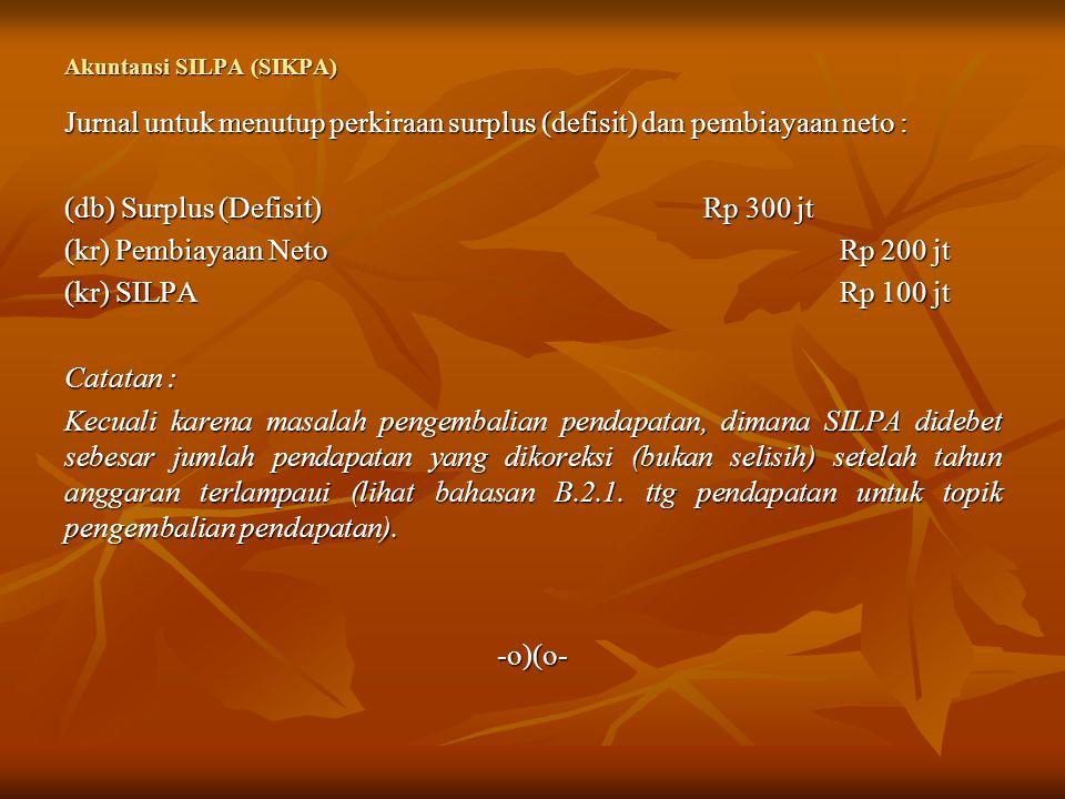 Akuntansi SILPA (SIKPA)