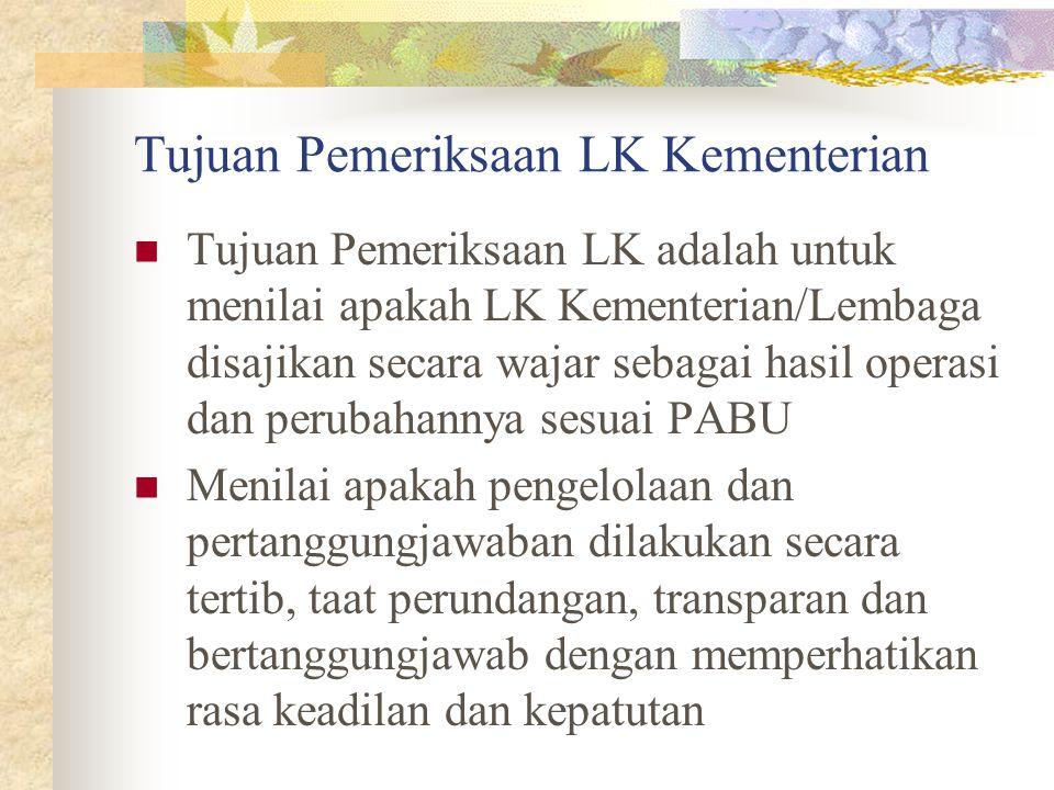 Tujuan Pemeriksaan LK Kementerian