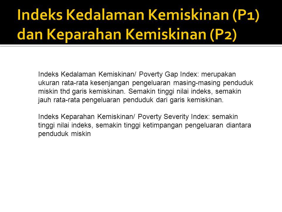 Indeks Kedalaman Kemiskinan (P1) dan Keparahan Kemiskinan (P2)