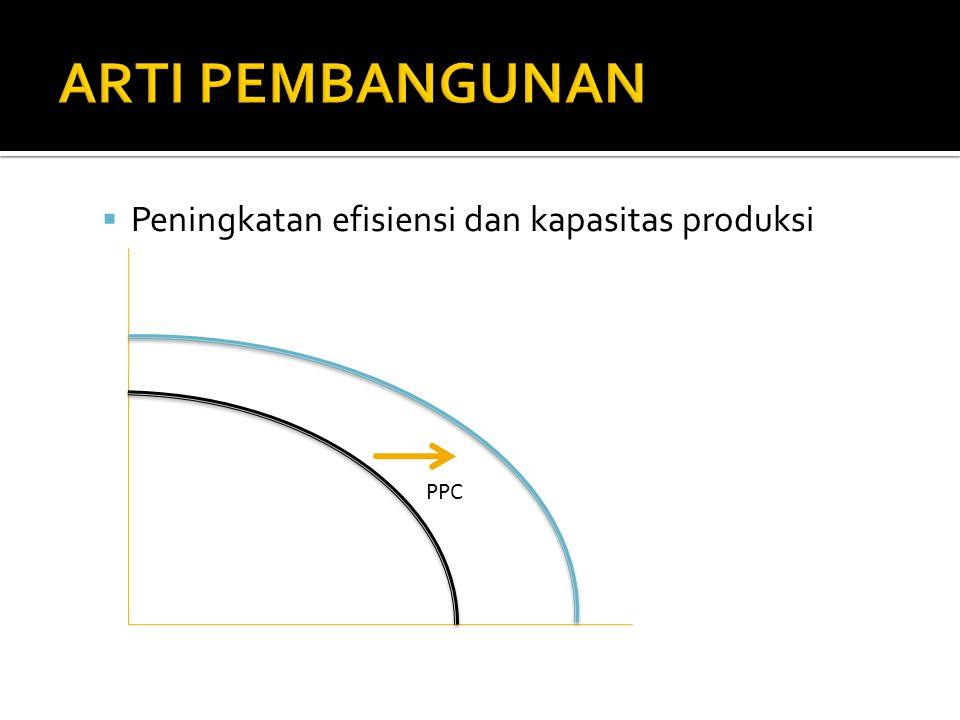 ARTI PEMBANGUNAN Peningkatan efisiensi dan kapasitas produksi PPC
