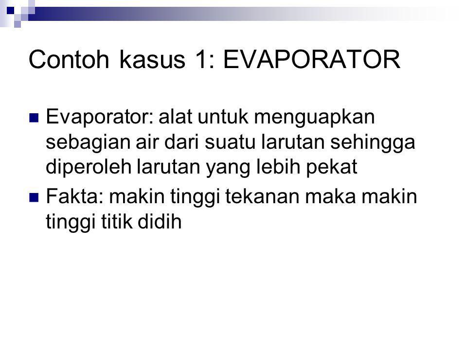 Contoh kasus 1: EVAPORATOR