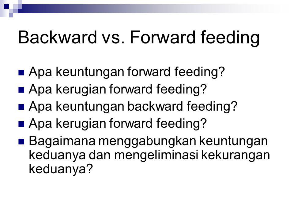 Backward vs. Forward feeding