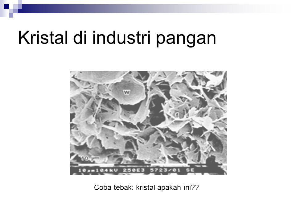 Kristal di industri pangan