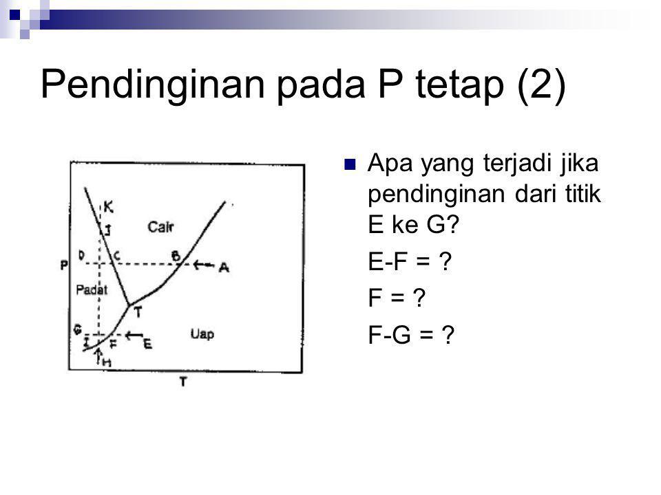 Pendinginan pada P tetap (2)