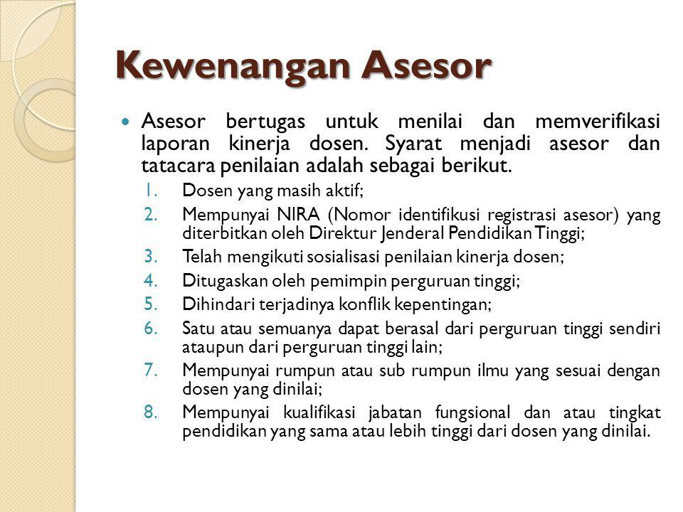 Kewenangan Asesor
