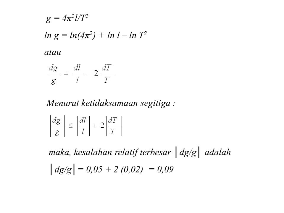 Menurut ketidaksamaan segitiga :