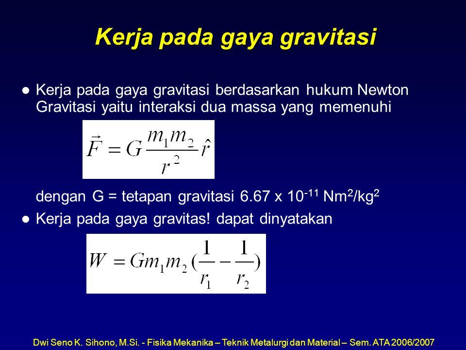 Kerja pada gaya gravitasi