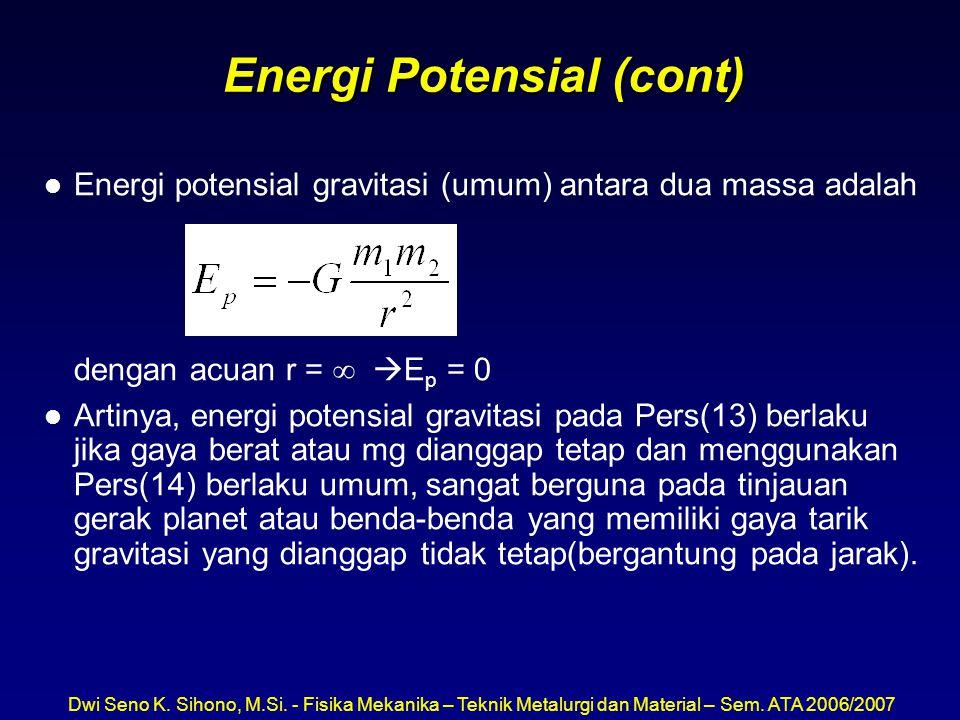 Energi Potensial (cont)