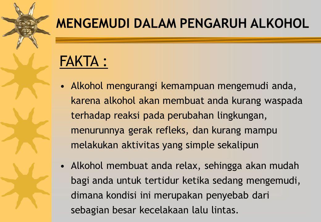 FAKTA : MENGEMUDI DALAM PENGARUH ALKOHOL