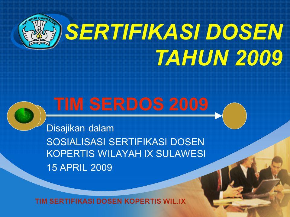SERTIFIKASI DOSEN TAHUN 2009