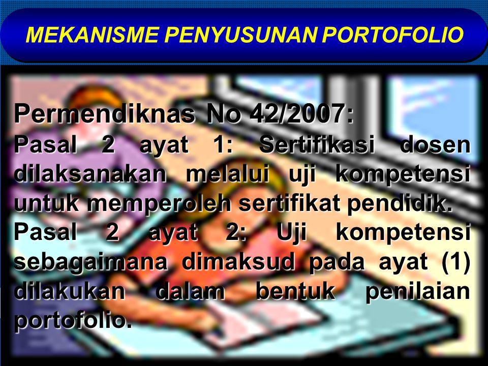 MEKANISME PENYUSUNAN PORTOFOLIO