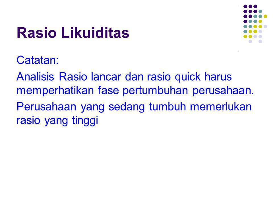 Rasio Likuiditas Catatan: