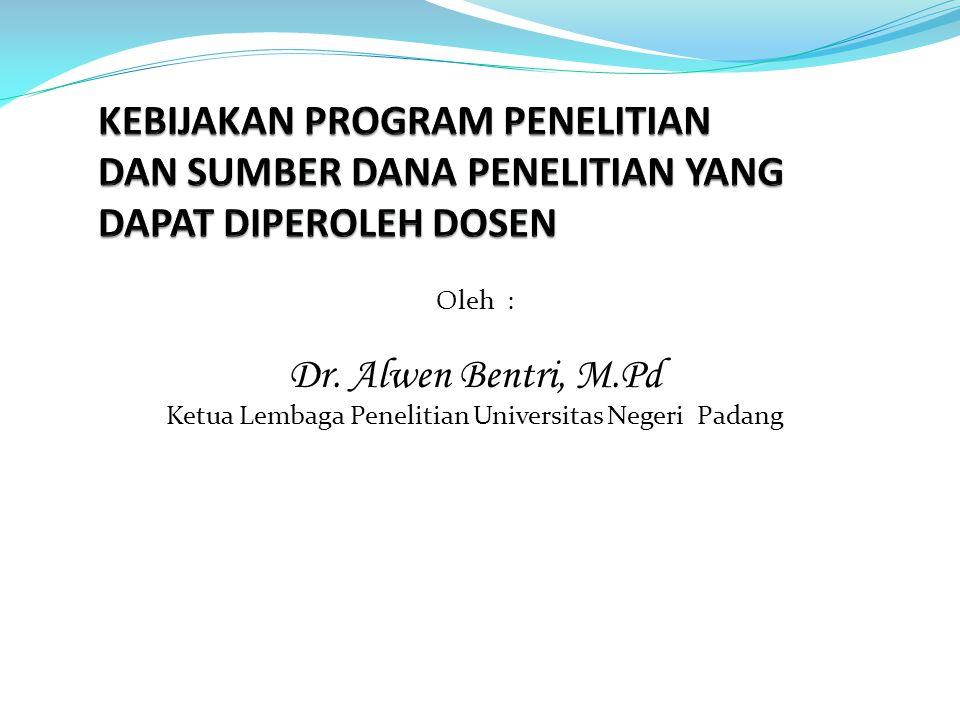 Ketua Lembaga Penelitian Universitas Negeri Padang