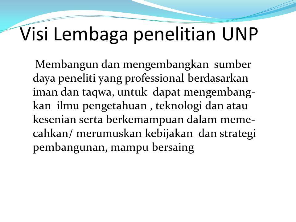 Visi Lembaga penelitian UNP
