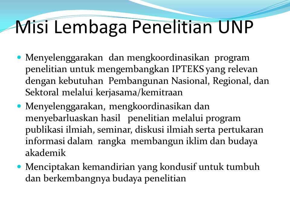 Misi Lembaga Penelitian UNP