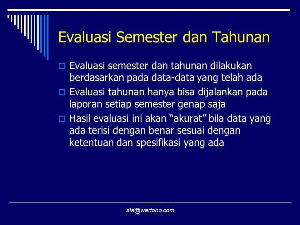 Evaluasi Semester dan Tahunan