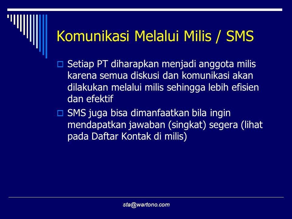 Komunikasi Melalui Milis / SMS