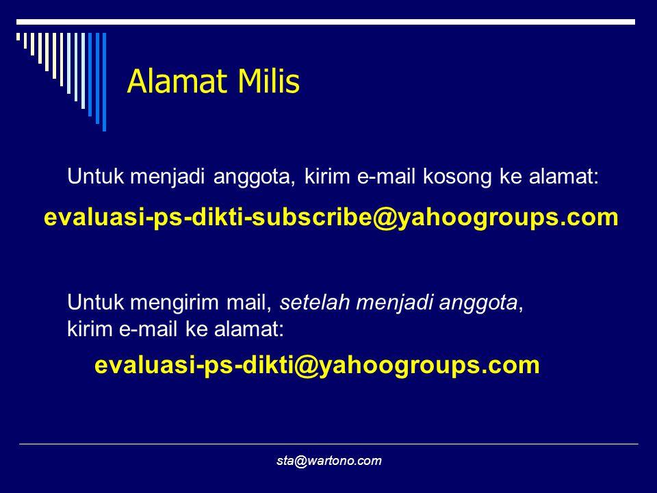 Alamat Milis evaluasi-ps-dikti-subscribe@yahoogroups.com