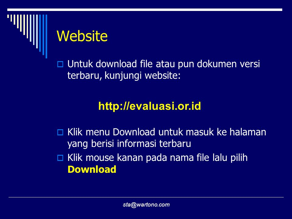 Website http://evaluasi.or.id