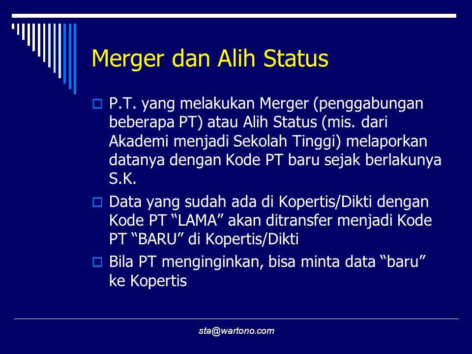 Merger dan Alih Status