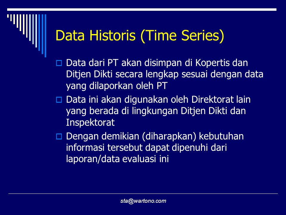 Data Historis (Time Series)