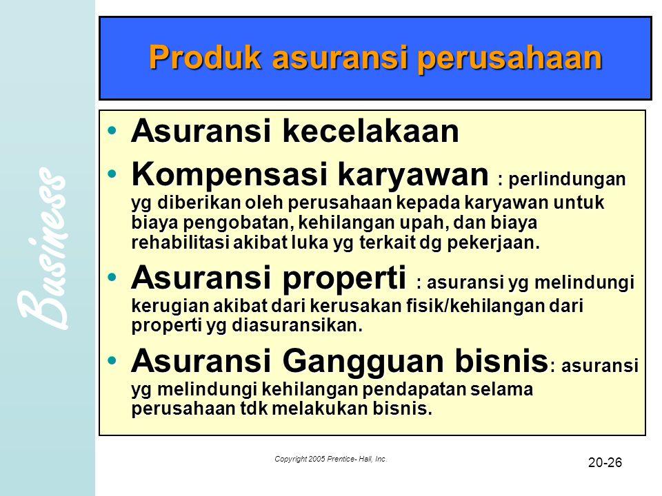 Produk asuransi perusahaan