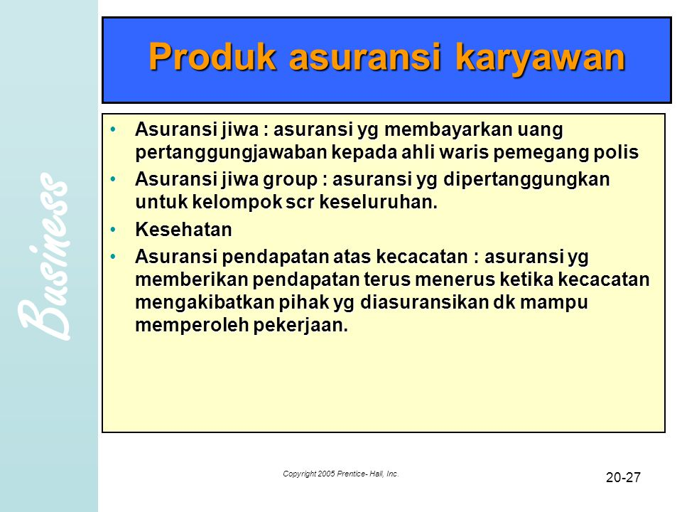 Produk asuransi karyawan