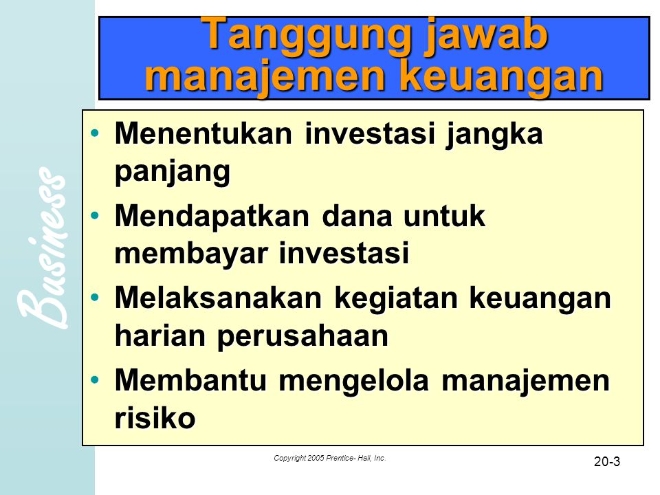 Tanggung jawab manajemen keuangan