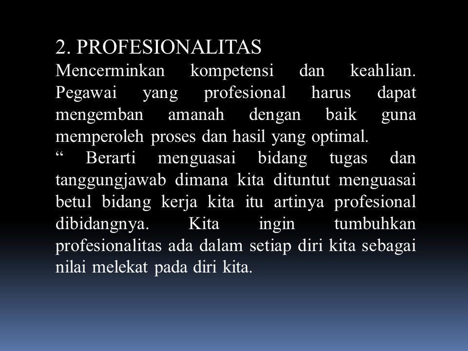 2. PROFESIONALITAS