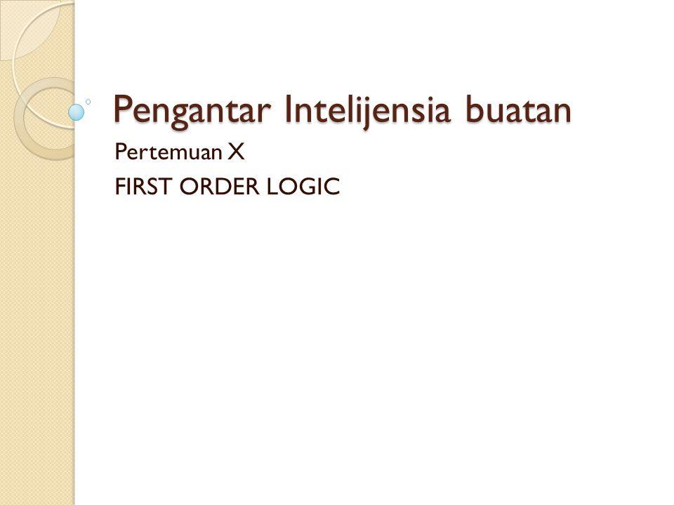 Pengantar Intelijensia buatan