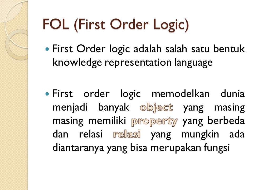 FOL (First Order Logic)