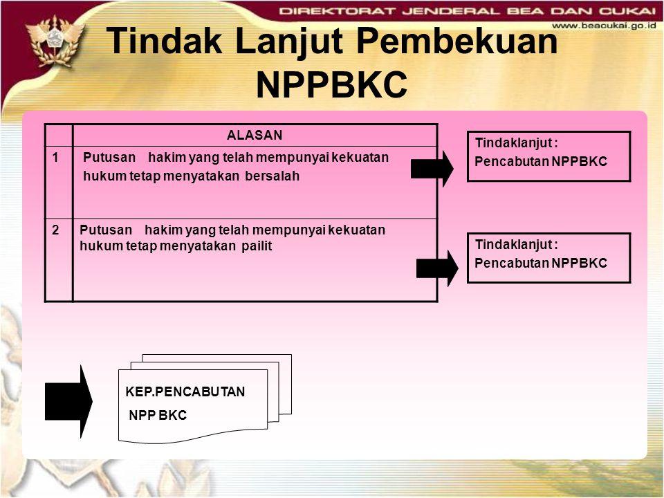 Tindak Lanjut Pembekuan NPPBKC