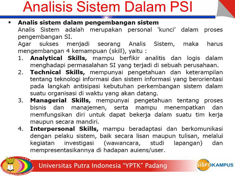 Analisis Sistem Dalam PSI