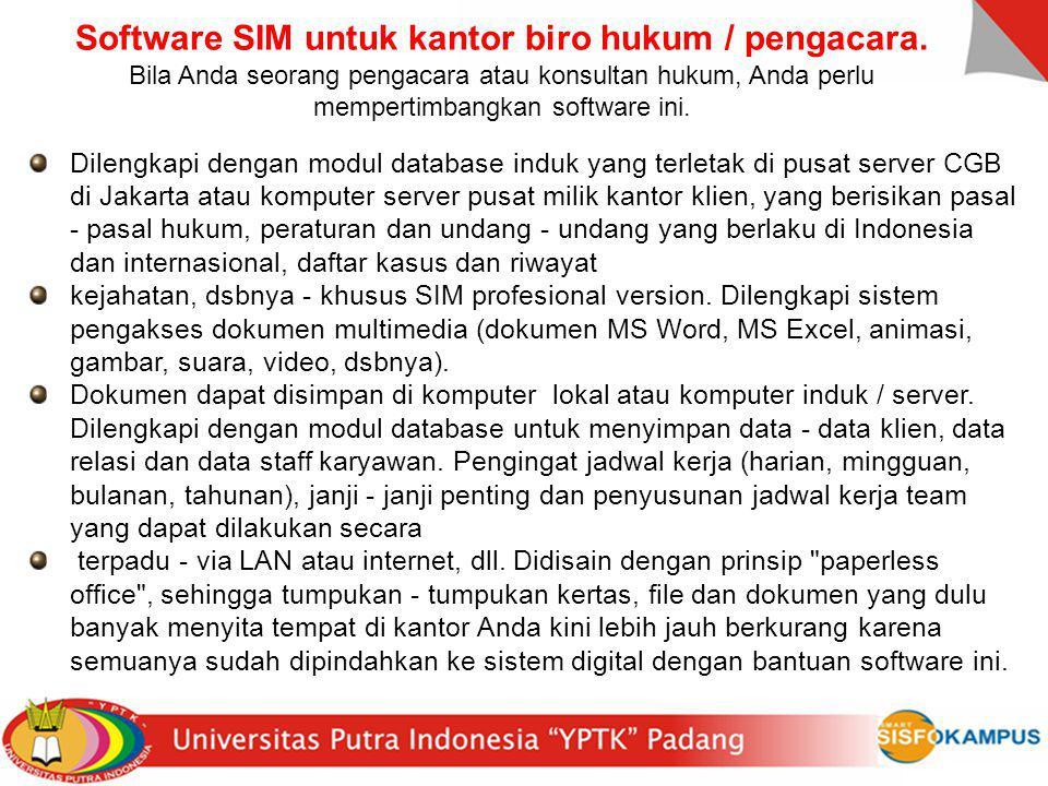 Software SIM untuk kantor biro hukum / pengacara