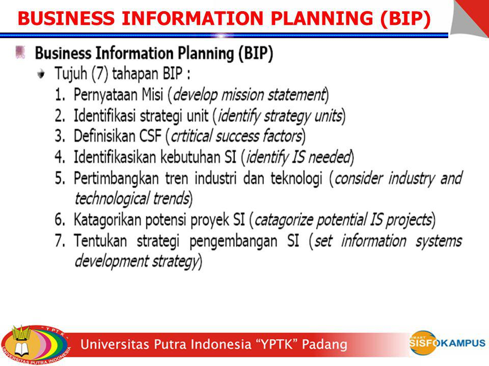 BUSINESS INFORMATION PLANNING (BIP)